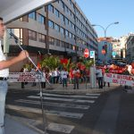 Manifestação junto Fundação das Comunicações
