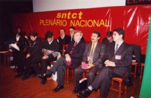 Entre os membros da Direcção o Camarada Carvalho também estava feliz por ter o Plenário na sua Cidade...