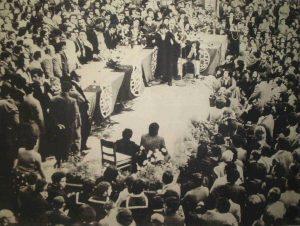 """A """"alvorada"""" do SNTCT deu-se naquele dia 5 de Maio de 1974 no Pavilhão dos Desportos de Lisboa (hoje Carlos Lopes) quando mais de 10.000 trabalhadores e trabalhadoras dos CTT oriundos(as) de todo o País decidiram criar o seu Sindicato..."""