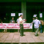Cordão Humano em defesa da PT-ACS e do Fundo de Pensões da PT