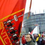 Estrasburgo - Manifestação frente ao Parlamento Europeu contra Liberalização Total dos Serviços Postais Europeus